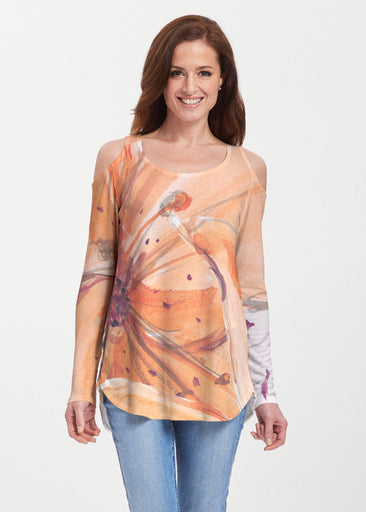 Tiger Lily (15021) ~ Butterknit Cold Shoulder Tunic