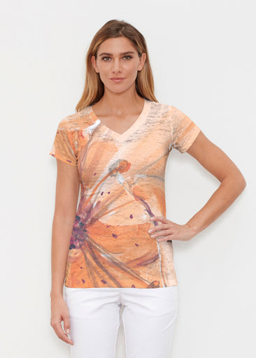 Tiger Lily (15021) ~ Signature Cap Sleeve V-Neck Shirt