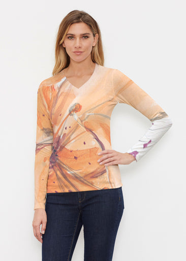 Tiger Lily (15021) ~ Butterknit Long Sleeve V-Neck Top