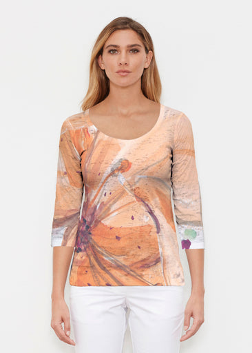 Tiger Lily (15021) ~ Signature 3/4 Sleeve Scoop Shirt