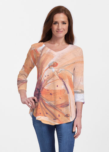 Tiger Lily (15021) ~ Signature V-neck Flowy Tunic