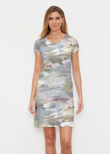 Landscape Green (15033) ~ Classic Crew Dress