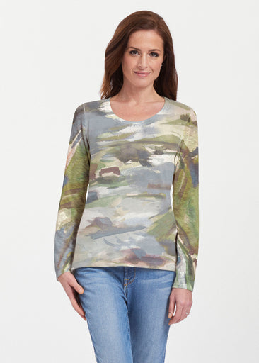 Landscape Green (15033) ~ Texture Mix Long Sleeve