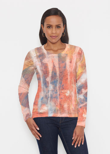 Tiki Orange (15039) ~ Signature Long Sleeve Crew Shirt