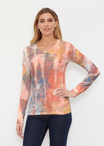 Tiki Orange (15039) ~ Thermal Long Sleeve Crew Shirt