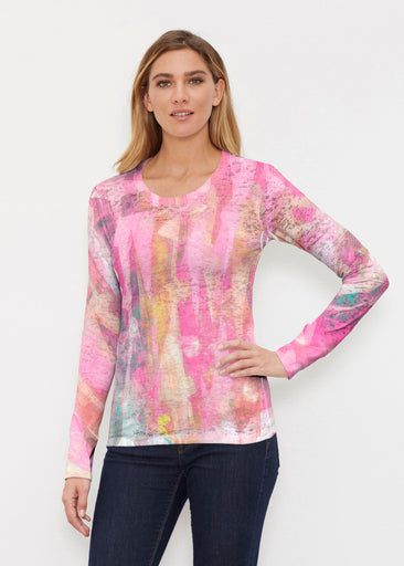 Tiki Pink (15040) ~ Thermal Long Sleeve Crew Shirt