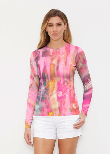 Tiki Pink (15040) ~ Long Sleeve Rash Guard