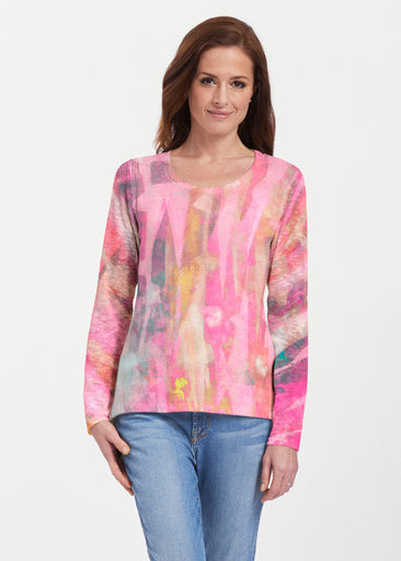 Tiki Pink (15040) ~ Texture Mix Long Sleeve