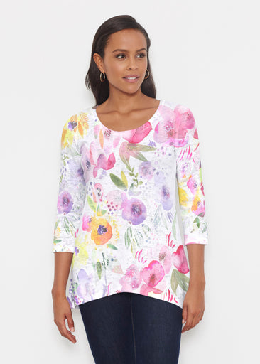 Spring Crush Pink (16061) ~ Katherine Hi-Lo Thermal Tunic