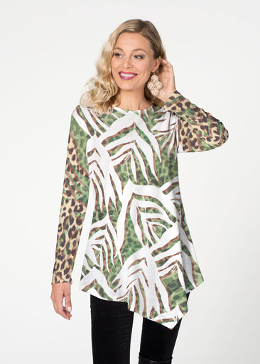Lush Jaguar (16151) ~ Asymmetrical French Terry Tunic
