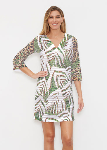 Lush Jaguar (16151) ~ Banded 3/4 Sleeve Cover-up Dress
