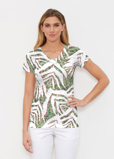 Lush Jaguar (16151) ~ Signature Cap Sleeve V-Neck Shirt