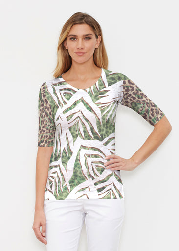 Lush Jaguar (16151) ~ Elbow Sleeve Crew Shirt