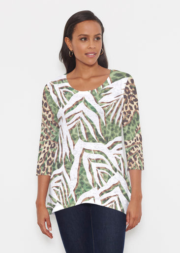 Lush Jaguar (16151) ~ Katherine Hi-Lo Thermal Tunic