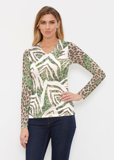 Lush Jaguar (16151) ~ Butterknit Long Sleeve V-Neck Top