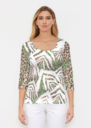 Lush Jaguar (16151) ~ Signature 3/4 Sleeve Scoop Shirt
