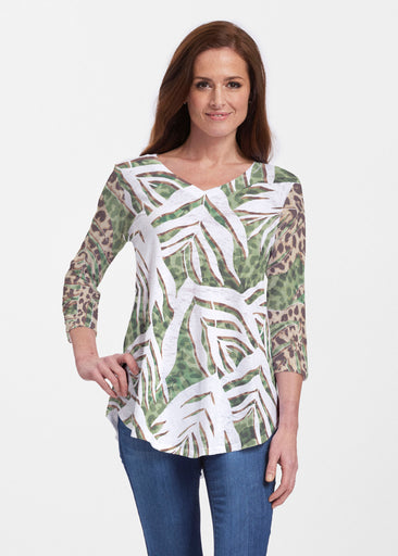 Lush Jaguar (16151) ~ Signature V-neck Flowy Tunic