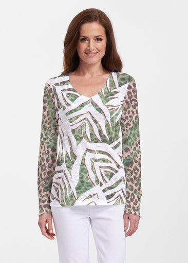 Lush Jaguar (16151) ~ Thermal Long Sleeve V-Neck Shirt