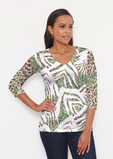 Lush Jaguar (16151) ~ Signature 3/4 V-Neck Shirt