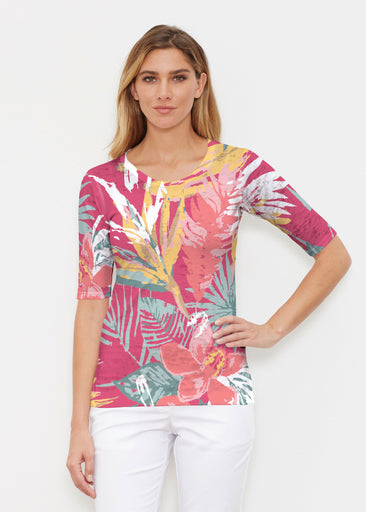 Havana (16152) ~ Signature Elbow Sleeve Crew Shirt