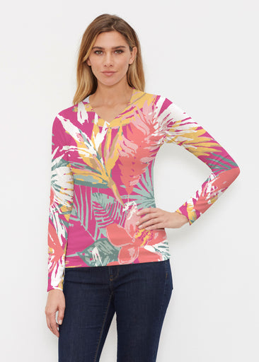 Havana (16152) ~ Butterknit Long Sleeve V-Neck Top