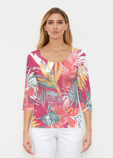 Havana (16152) ~ Signature 3/4 Sleeve Scoop Shirt