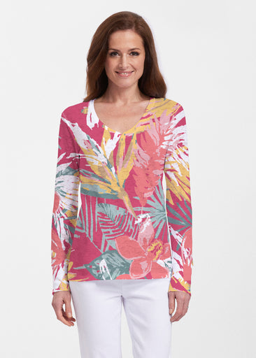 Havana (16152) ~ Thermal Long Sleeve V-Neck Shirt