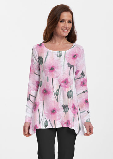 Pink Poppies (16157) ~ Abigail Thermal Tunic