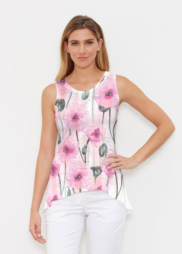 Pink Poppies (16157) ~ High-low Tank