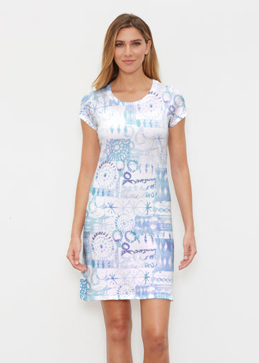 Ferris Wheel Blue (16186) ~ Classic Crew Dress