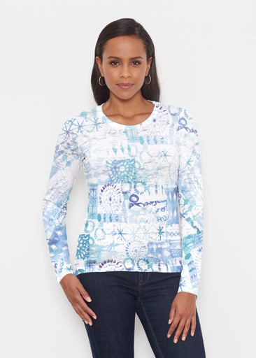 Ferris Wheel Blue (16186) ~ Signature Long Sleeve Crew Shirt