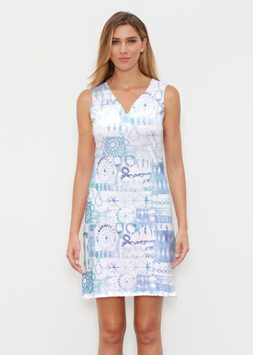 Ferris Wheel Blue (16186) ~ Classic Sleeveless Dress