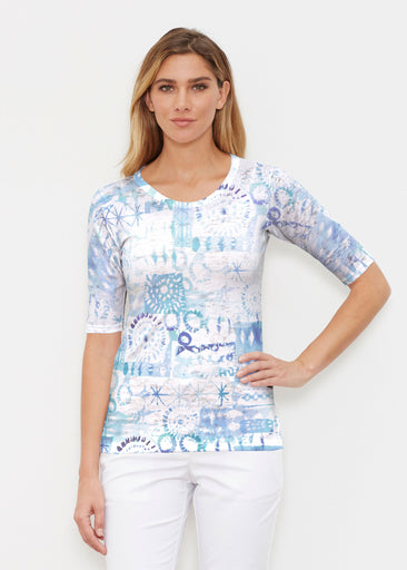 Ferris Wheel Blue (16186) ~ Signature Elbow Sleeve Crew Shirt