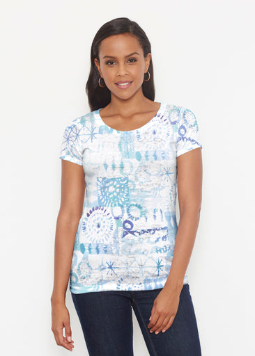 Ferris Wheel Blue (16186) ~ Short Sleeve Scoop Shirt