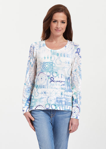 Ferris Wheel Blue (16186) ~ Texture Mix Long Sleeve