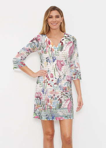 Rhapsody (16191) ~ Banded 3/4 Sleeve Cover-up Dress