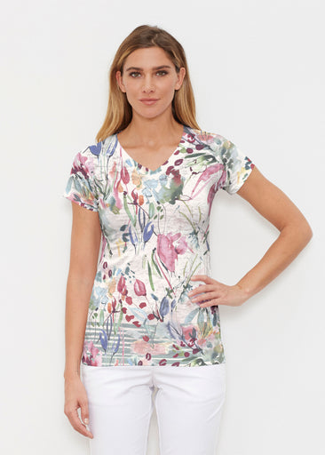 Rhapsody (16191) ~ Signature Cap Sleeve V-Neck Shirt