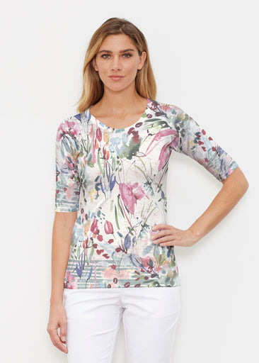 Rhapsody (16191) ~ Elbow Sleeve Crew Shirt