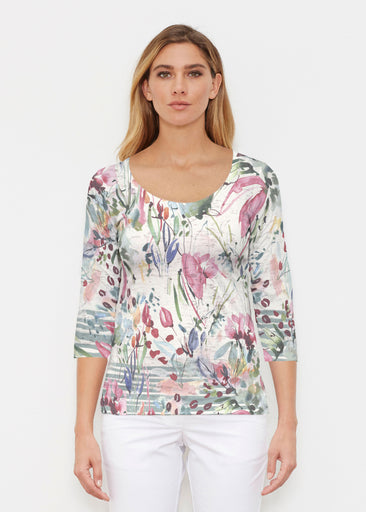 Rhapsody (16191) ~ Signature 3/4 Sleeve Scoop Shirt