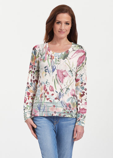 Rhapsody (16191) ~ Texture Mix Long Sleeve