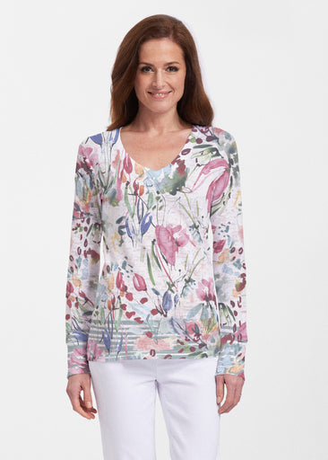 Rhapsody (16191) ~ Thermal Long Sleeve V-Neck Shirt