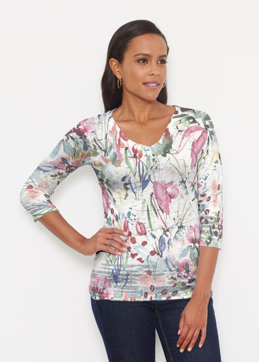 Rhapsody (16191) ~ Signature 3/4 V-Neck Shirt