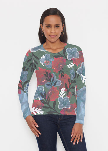 Heirloom Green (17005) ~ Signature Long Sleeve Crew Shirt