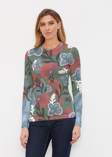 Heirloom Green (17005) ~ Butterknit Long Sleeve Crew Top
