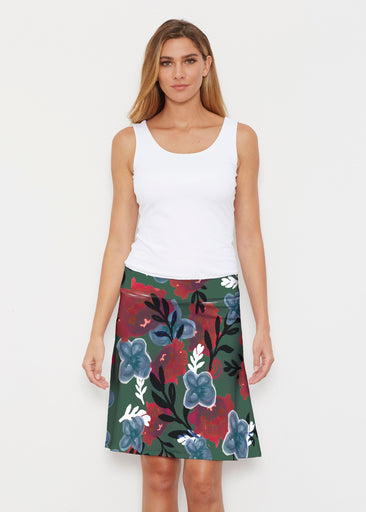 Heirloom Green (17005) ~ Silky Brenda Skirt 21 inch