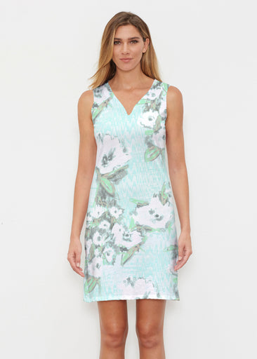 Waterfall Aqua (17074) ~ Classic Sleeveless Dress