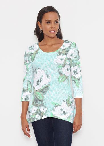Waterfall Aqua (17074) ~ Katherine Hi-Lo Thermal Tunic