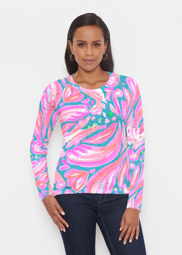 Fiona Pink (17111) ~ Signature Long Sleeve Crew Shirt