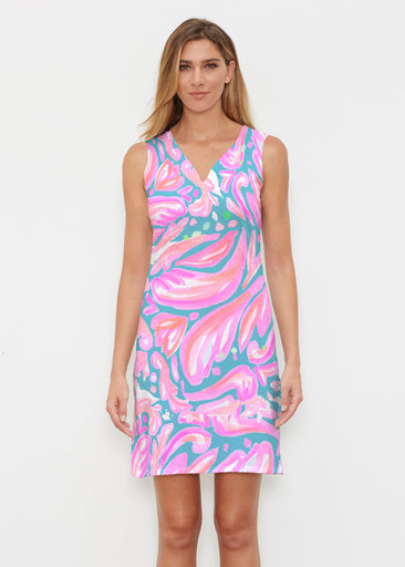 Fiona Pink (17111) ~ Classic Sleeveless Dress