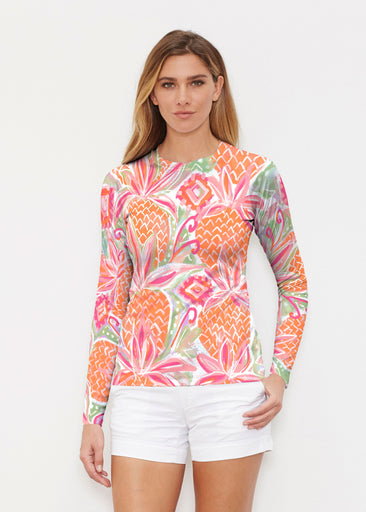 Pineapple Coral (17115) ~ Long Sleeve Rash Guard